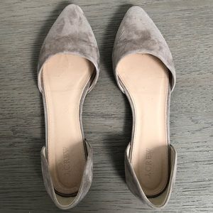 J.Crew Suede D'Orsay Flat
